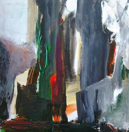 Brigitte Krief - SOUS-BOIS abstrait- gris vert rouge.jpg