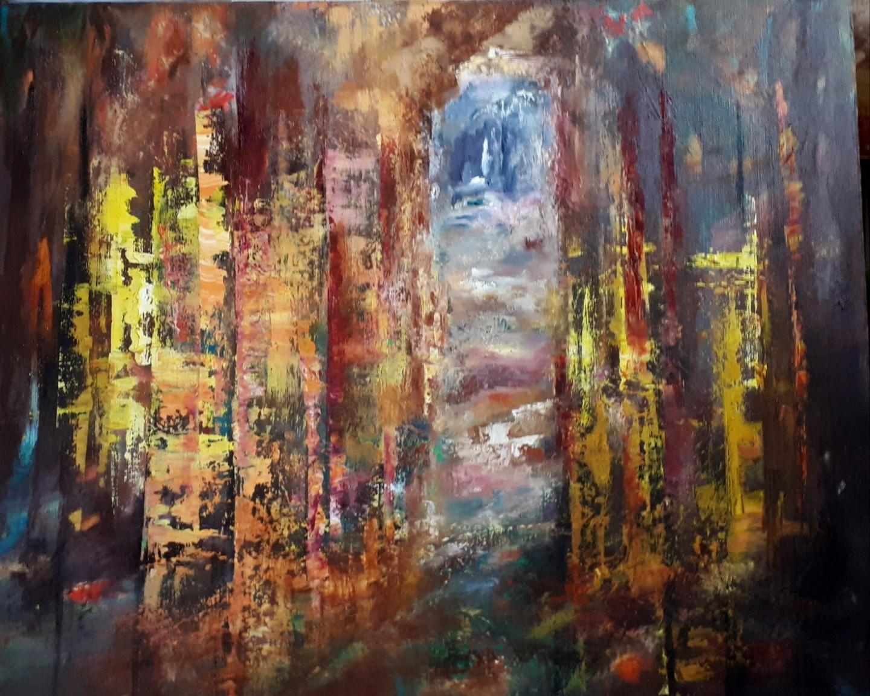 Brigitte Krief - SOUS-BOIS 3   65 x 81 cm