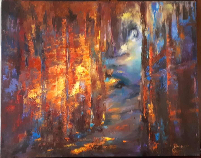 Brigitte Krief - SOUS-BOIS 4  73 x 92 cm