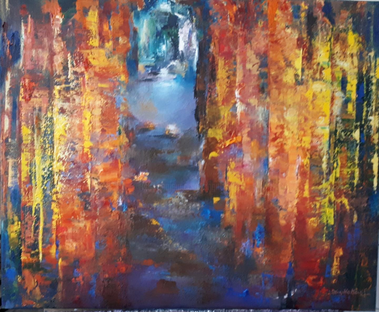 Brigitte Krief - SOUS-BOIS 5 huile 60 x 73 cm