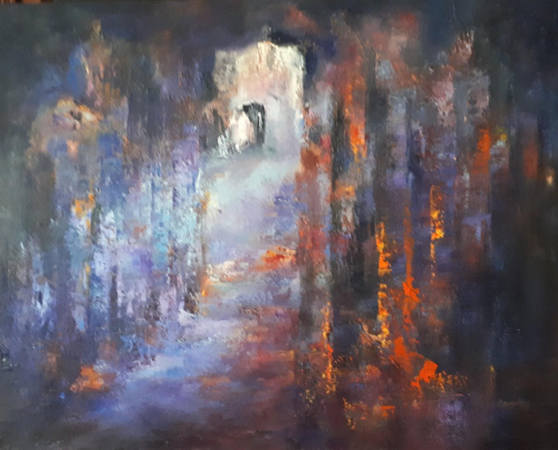Brigitte Krief - SOUS-BOIS 6  huile 73 x 92 cm