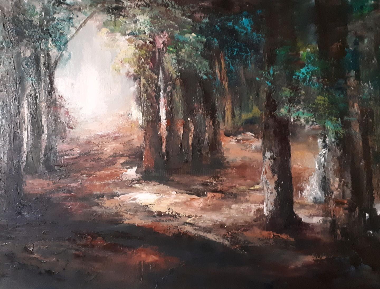 Brigitte Krief - Dans le petit bois de trousse chemise... 81 x 60 cm