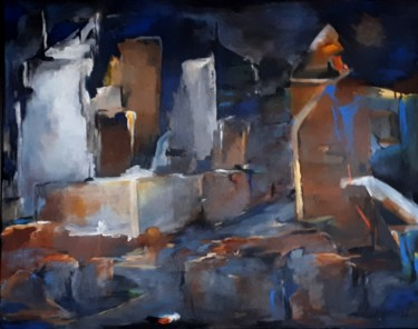 LYON de-nuit-2-2019-technique-mixte 81 x 100 cm