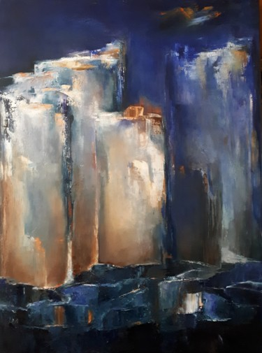 L' HEURE BLEUE 80 x 60 cm